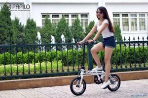Đi xe đạp gấp đẹp và khỏe