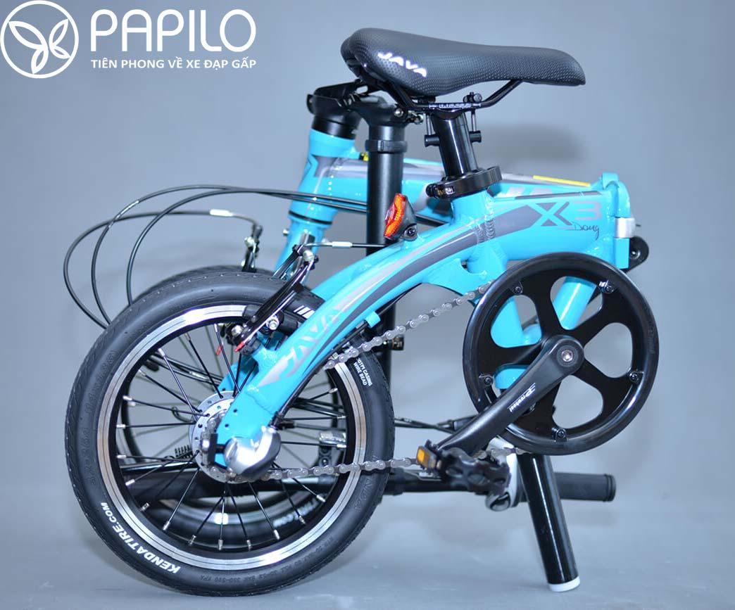 Xe đạp gấp Java X3 bánh nhỏ mà đi nhanh hơn cả xe mini truyền thống