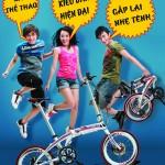 Teen và trao lưu đi xe đạp gấp