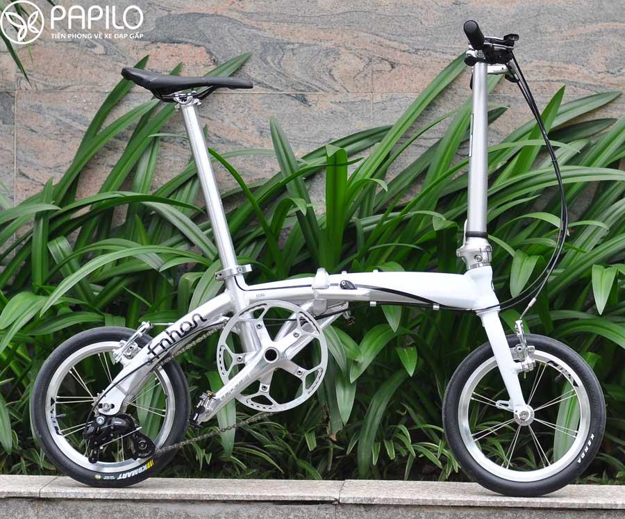 """Xe đạp gấp fnhon 14"""" siêu gọn nhẹ"""