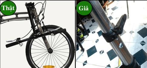 Cách nhận biết xe đạp gấp thật và giả