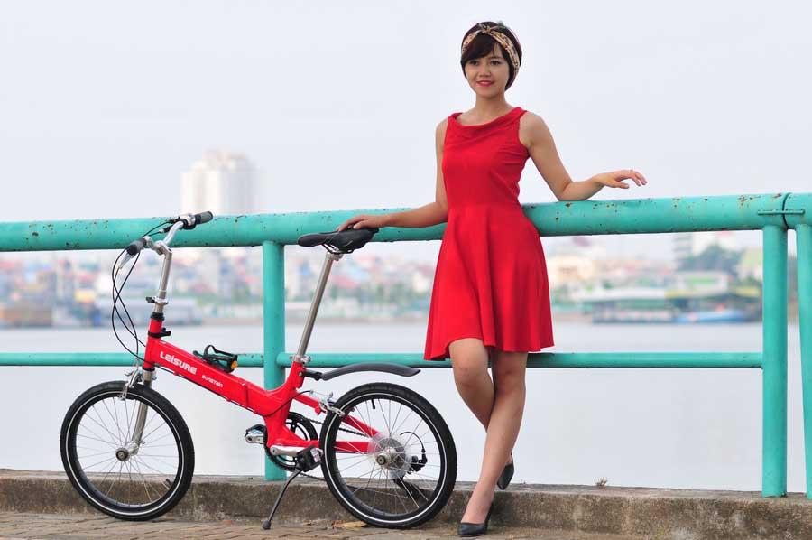 xe đạp gấp leisure