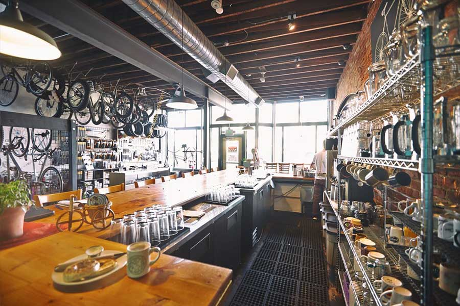 quán cafe xe đạp
