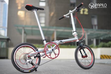Xe đạp gấp fnhon gust siêu gọn nhẹ