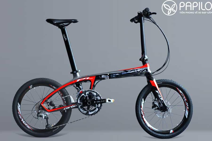 Xe đạp gấp Đức siêu nhẹ sava carbon 20 inch