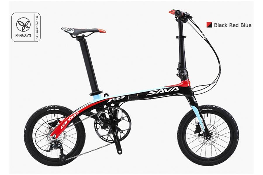xe đạp gấp siêu nhẹ sava carbon 16 inch