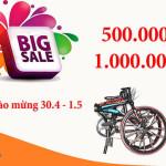 Khuyến mãi mua xe đạp gấp nhân dịp 30/4-1/5/2018