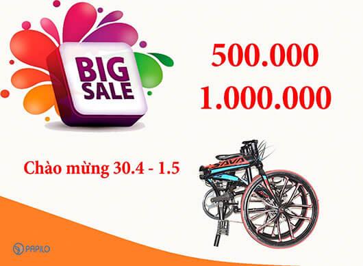 Khuyến mại khi mua xe đạp gấp tại Papilo