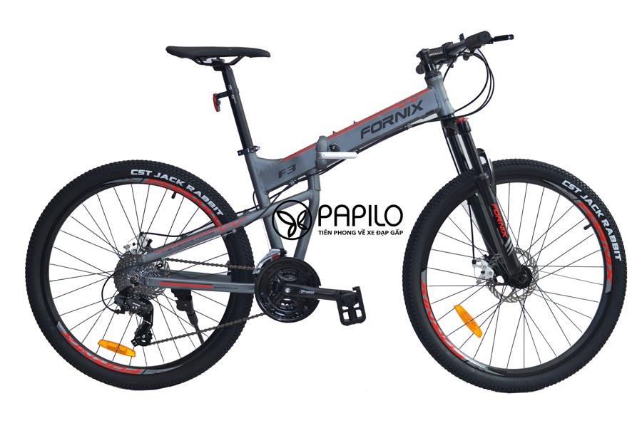 Xe đạp gấp fornix f3 ghi