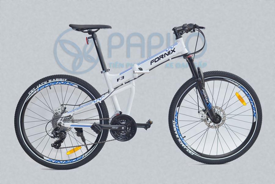 Xe đạp gấp fornix f3 trắng
