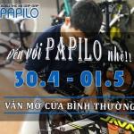 Thông báo xe đạp gấp Papilo mở cửa bán hàng dịp lễ 30/4-1/5/2018