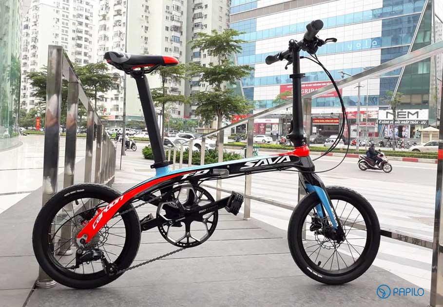 xe-dap-gap-sava-carbon-16-inch