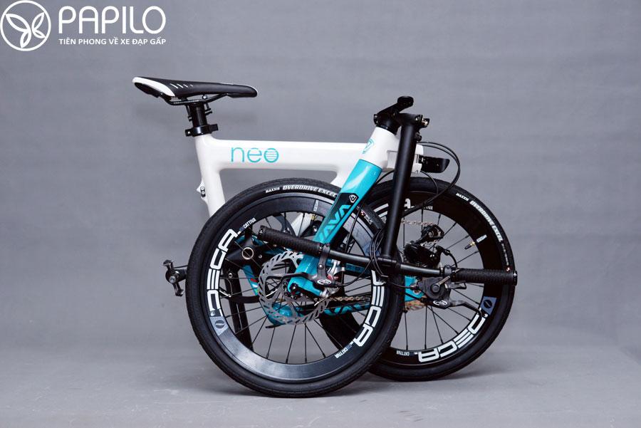 Siêu xe đạp thể thao gấp Java Neo khung carbon