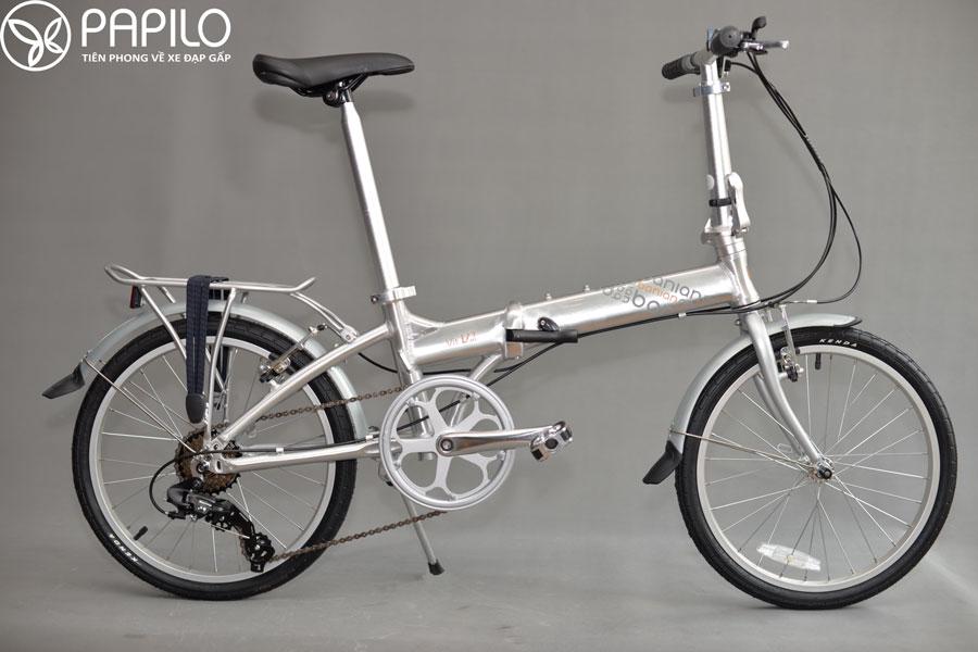 Xe đạp gấp Banian V7 màu bạcXe đạp gấp Banian V7 màu bạc