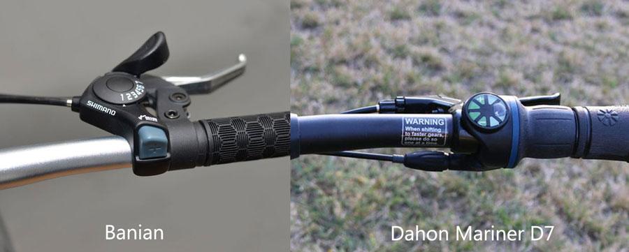 Xe đạp gấp banian V7 và dahon mariner d7