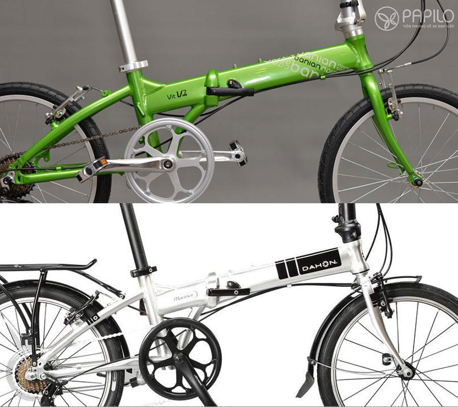 Khung xe Xe đạp gấp banian V7 và dahon mariner d7