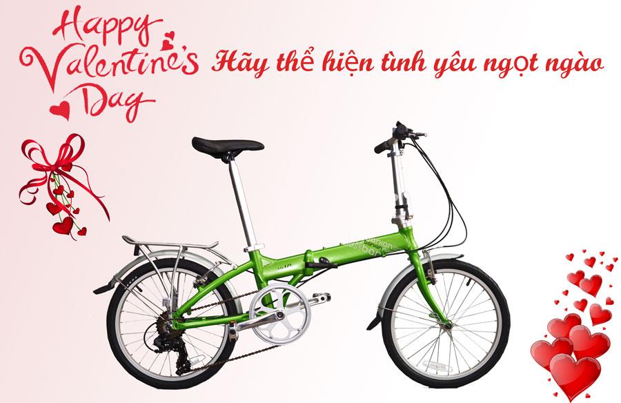 Xe đạp gấp cao cấp cho đôi tình nhân mùa Valentines 2019