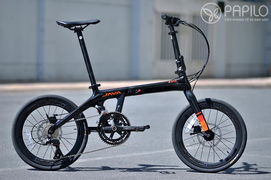 Xe đạp gấp khung carbon : Java ARIA 2020 - Đen đỏ (bóng)