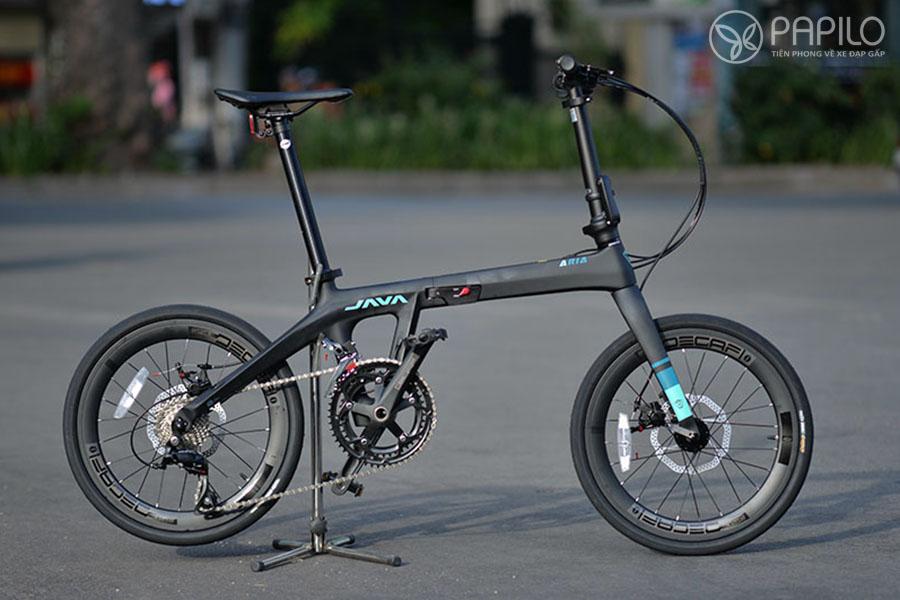 Xe đạp gấp khung carbon : Java ARIA 2020 - Đen xanh (mờ)