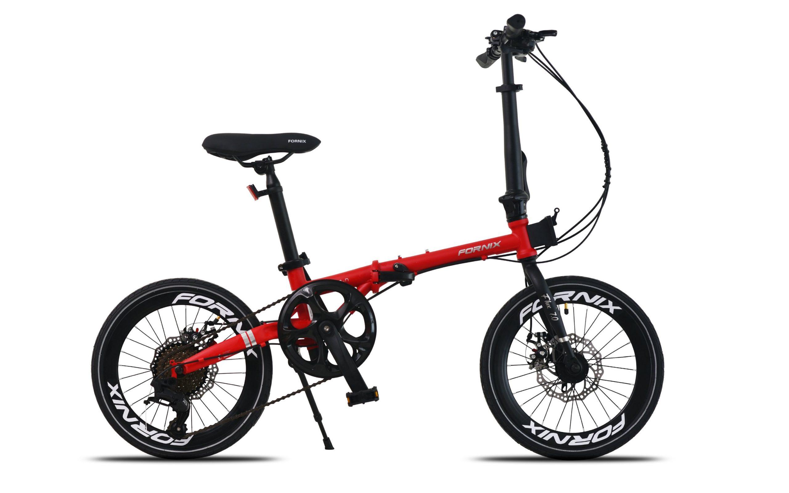Xe đạp gấp Fornix Flux 7.0 màu đỏ