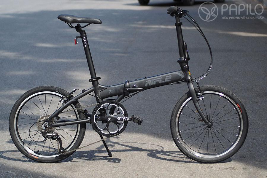 Xe đạp gấp Rifle R8 - màu đen