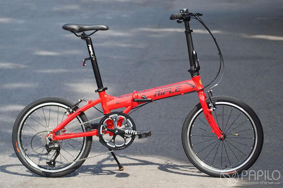 Xe đạp gấp Rifle R8 - màu đỏ
