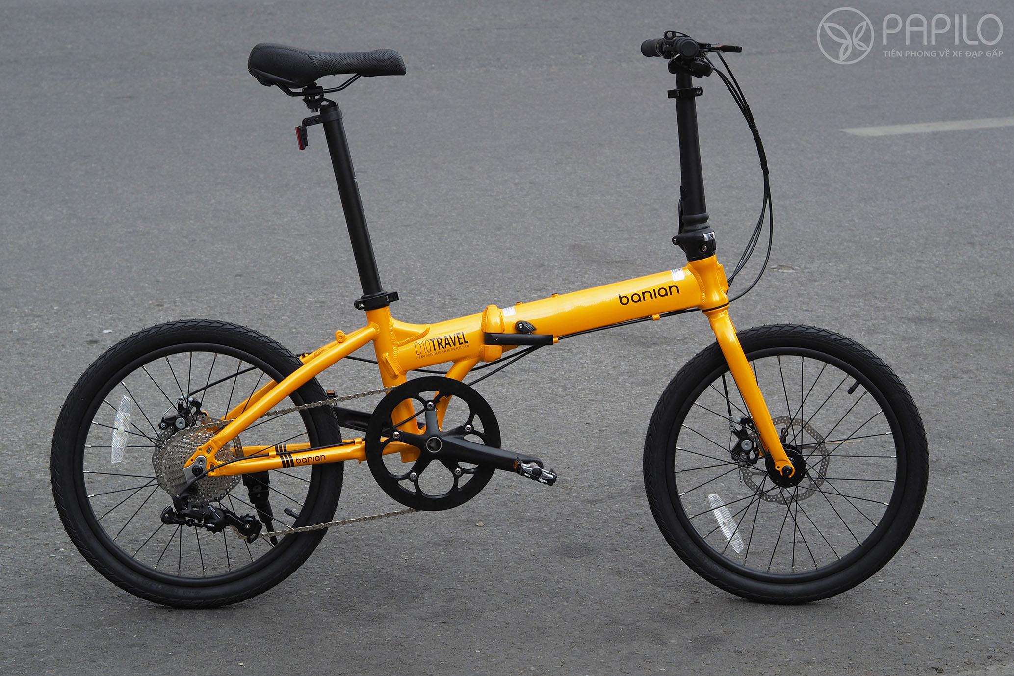 Xe đạp gấp Banian D10 - líp 10 cấp số